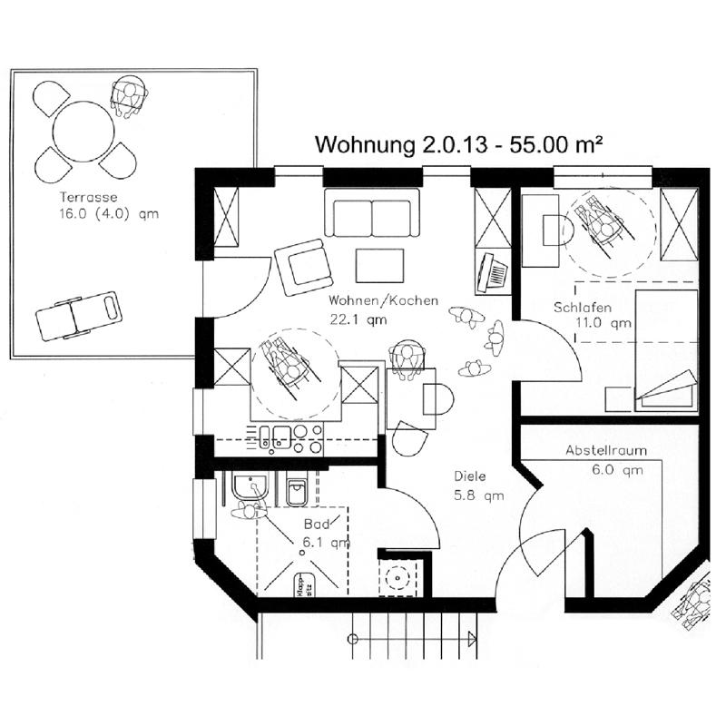 Sizze Wohnung Betreutes Pflegewohnen