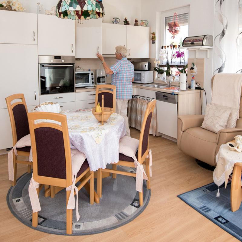 Wohnung betreutes Pflegewohnen des Sozialen Zentrum Espenau der Werk-Hilfe