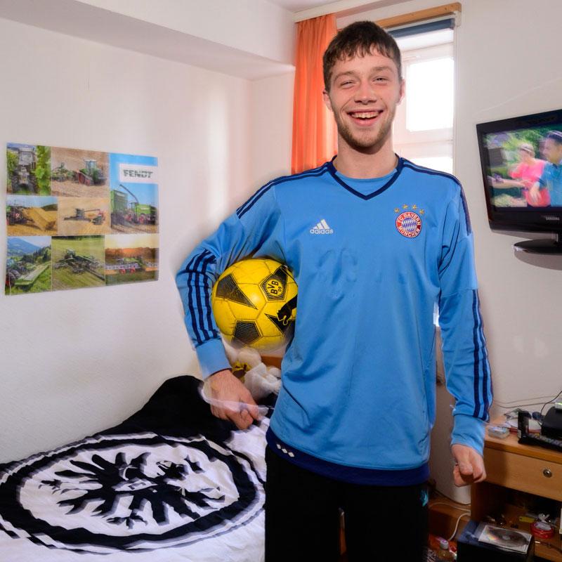 Fußballfan Wohnhaus Heckershausen