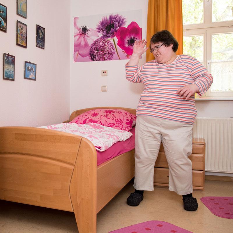Zimmer Bewohnerin Wohnhaus Heckershausen